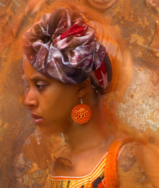 The lady with the orange earing