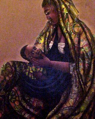 Black Madona, Acrylic on Canvas